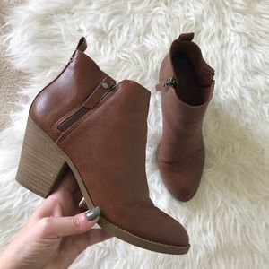 Universal Thread Cognac Double Zip Ankle Boot